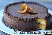 bizcocho de naranja y chocolate
