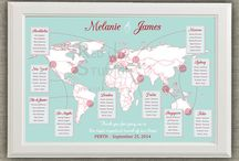 World Map Wedding
