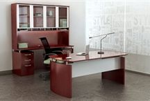 Super Cool Modern Office Desks / Looking to spice up your work space? Check out the modern office desks highlighted in this Pinterest board and get inspired for your project.
