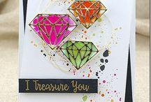 Kaarten met 'diamanten'