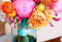 Old Mason Jars & Flowers