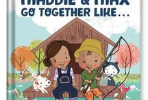 We Go Together Like… / Siblings and friends alike will adore finding their names and photos in this personalized book made especially for two readers! Select the gender, skin tone, and hair color of the two children when ordering.