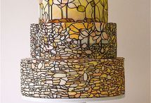 wedding / how to make things for wedding.  Pic shown is stained glass wedding cake / by Eddie Davis