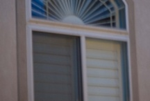 Irregular Shutters / These are some of our shutters built for irregular windows in both shape and size including arched windows.
