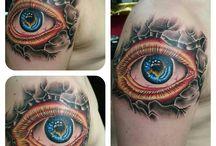 New tattoos / Recente tatoeages gezet door Red Rose Tattoo in Schiedam