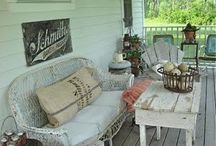 {Front Porches I Adore} / EnJOY sitting on your front porch and the beauty that surrounds it! Find more... http://www.SabrinaSandoval.com