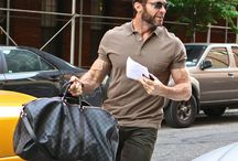 HUGH JACKMAN IN SUMMER COLOURS.  / When you wear your colours you will look yourself and also younger and more attractive. Summer Colours are cool but more muted and softer than the strong Winter Colours / by Your Colours and Style