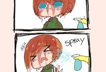 Aot / Armin,eren,Mikasa,Levi og Andre