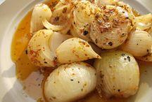 Fırında soğan salatası