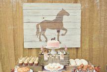 Fiesta de caballos / Un tablero lleno de ideas para hacer un cumple temático de caballos.