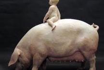 Ceramic Pigs