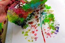 blad schilderen