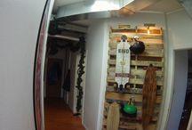 Hanging skateboards