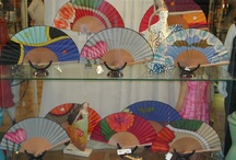 Hand Fan Display / One day I will have my dream and own my own hand fan shop :-)