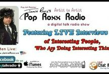 Pop Roxx Radio Talk Show Podcasts / Pop Art Painter Jamie Roxx conducts LIVE Interviews of Celebs, Interesting People, Musicians & Artists who are doing Interesting Things from all over the Planet! As of 5-23-18 we moved 700 past episode to our website archive direct (www.JamieRoxx.us) hover over the Pop Roxx Radio Link for Past episodes (direct streams and iTunes, both are Free!)