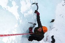 Ice-climbing in the Lyngenfjord region