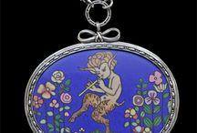Vintage Enamel Jewellery