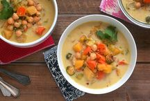 Recipes - Soups, Stews, Chili, Curry / mostly vegetarian or vegan, sometimes I list several of the same to figure out the best one for our table. / by Em Hale