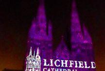 Lichfield Cathedral son et lumiere-Angels 2016