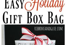 Holiday Gift Bags From Scrapbook Paper