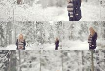 MATERNITY session in snow / Maternity in snow setting / by Margriet Hulsker