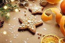 Χριστουγεννιάτικα μπισκότα με πορτοκαλί κ κανελα