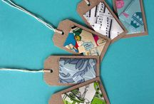 Gift tags / Quaint gift tags made from repurposed materials