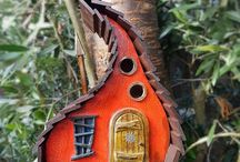 Birdhouses and Bird feeders