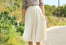 Medium Lenght Skirt Looks / Medium Lenght Skirt Looks