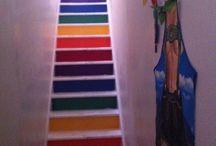 Rainbow stairs / Pride stairs, DIY, home decor