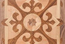 Marquetry Flooring / Marquetry flooring is created with patterns fully tailored to personal requests, and each flooring has a unique shape.  It is time to meet flooring specially designed for you, created out of combinations of woods of different colours from different types of trees.