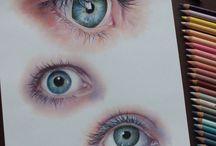 colour pencils drawing
