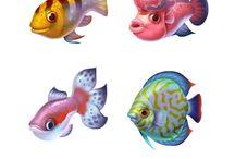 fish tattoo cartoon