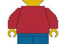 Haft krzyżykowy - Lego
