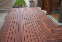 TABLAS DE DECK NUEVAS / Una terraza de madera, TABLAS DE DECK, variedad en CARRARA  http://www.carrarademoliciones.com.uy/ 22 03 52 17 / 22 00 68 11