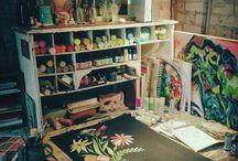 DECOR // Studio Spaces / Inspiring artists studios