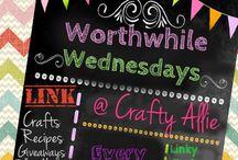 Worthwhile Wednesdays Link Party @ Crafty Allie http://thecraftiestallie.blogspot.com/ / Top Features