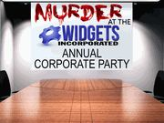 Murder at the Widgets Annual Corporate Party - Murder Mystery Party / A Corporate Murder Mystery Party Game for 16 to over 100 guests. 16 unique characters with 12 of the characters as Vice Presidents of corporate areas (i.e. Human Resources, Marketing, Sales, etc.) that act as leaders of their respective departments (expandable players).