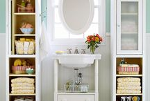 Bathroom storage ideas / by Amy Higgins-Margalli