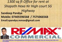 office for rent in shapath hexa sg highway near high court