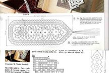 filet crochet bookmarks