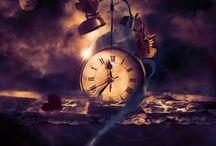 klok..tijd .zandlopers