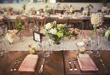 Bryllup-pynting av bordet/lokalet