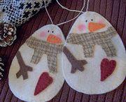 Christmas - Felt Snowmen & Penguins