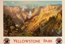 Vintage Yellowstone Country Posters