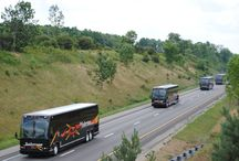Our coaches / Deluxe motorcoach buses in varied sizes provide comfort and safety on the road.