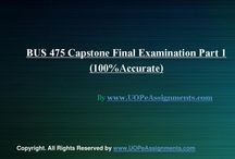 Bus 475 capstone final exam part 1