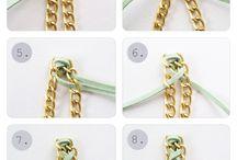Pulseras con cadenas y cintas