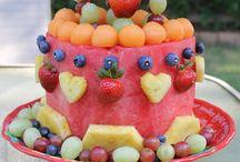 Fruits birthday cake