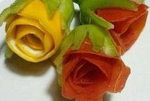 enfeites de frutas e legumes
